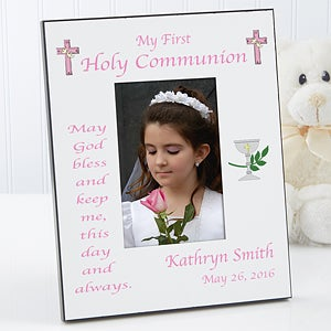 Personalized May God Bless Me First Communion Photo Frame - 1745