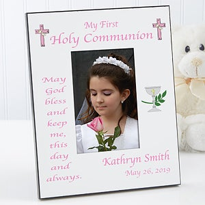 Personalized May God Bless Me First Communion Photo Frame