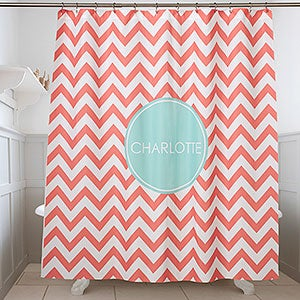 Personalized Shower Curtain - Preppy Chic - 17450
