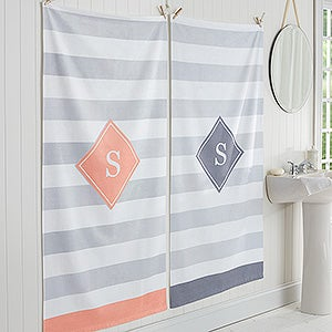 Personalized Family Initial Bath Towel - Classic Initial - 17457