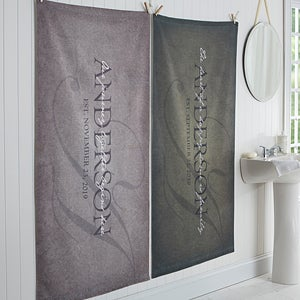 Personalized Family Bath Towel - The Heart Of Our Home - 17458