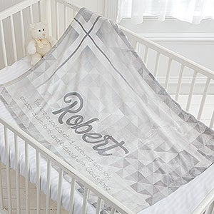 Personalized Christening Blankets for Boys and Girls - 17482
