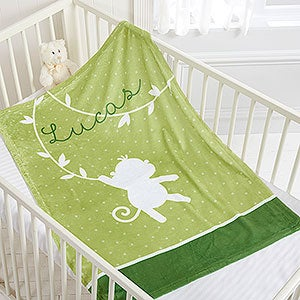 Personalized Baby Blanket - Zoo Animals - 17484