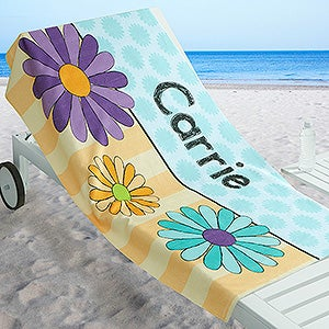 Personalized Girls Beach Towel - Just For Her - 17485