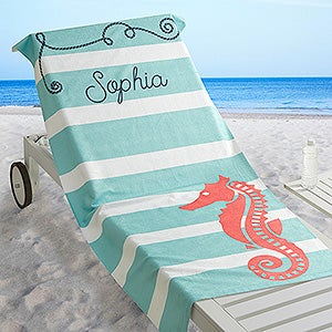 Personalized Beach Towel - Nautical - 17489