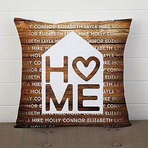 Personalized Throw Pillows - Home Is Love - 17512
