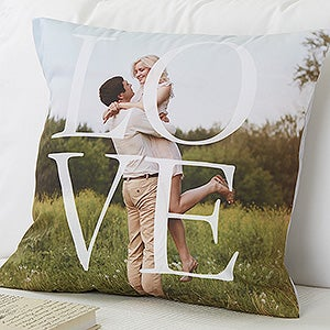 Personalized LOVE Photo Throw Pillows - 17515