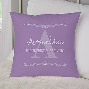 Personalized Name Throw Pillows - My Name Means - 17517