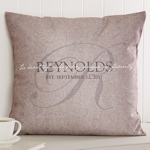 Personalized Family Throw Pillow - Heart Of Our Home - 17519