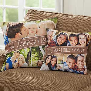Photo Throw Pillows - Family Photo Collage - 17520