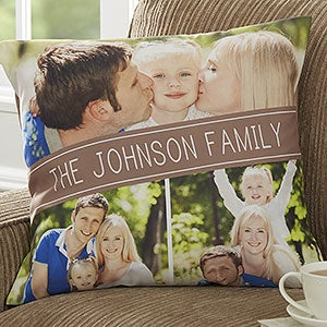 Photo Throw Pillows - Family Photo Collage - 17520