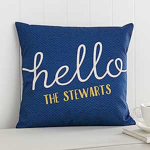 Personalized Throw Pillows - Custom Greetings - 17521