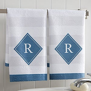 Personalized Classic Initial Hand Towel Set - Monogram - 17528