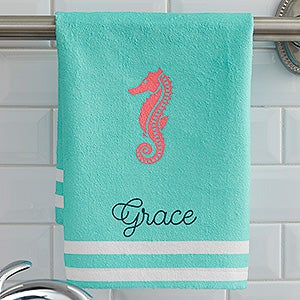 Personalized Nautical Hand Towels - 17532