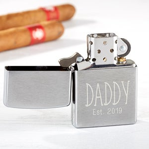 Personalized Zippo Windproof Lighter - Daddy Established - 17534