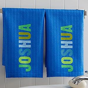 Personalized Kids Bathroom Hand Towel Set - All Mine! - 17537
