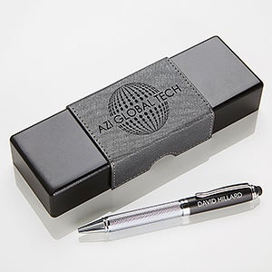 Business Logo Personalized Stylus Pen & Case Set - 17544