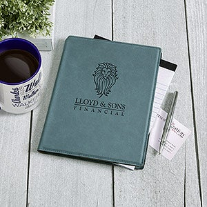 Business Logo Personalized Notepad - Teal - 17546