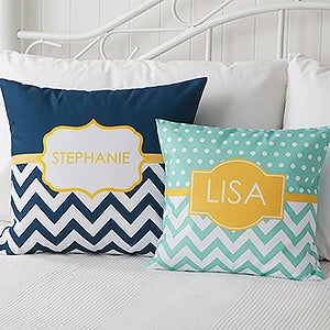 Custom Name Or Monogram Throw Pillows - 17549