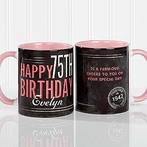 Personalized Coffee Mugs - Vintage Birthday - 17555