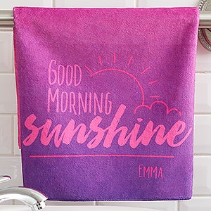 Personalized Hand Towels - Morning Motivation - 17570