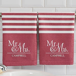 personalized wedding hand towels