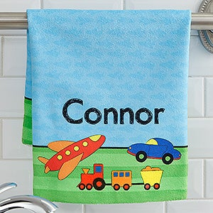 Personalized Kids Hand Towels With Names For Boys