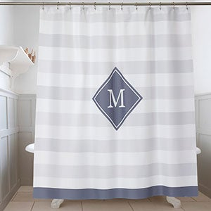 Classic Initial Monogram Shower Curtain - 17579