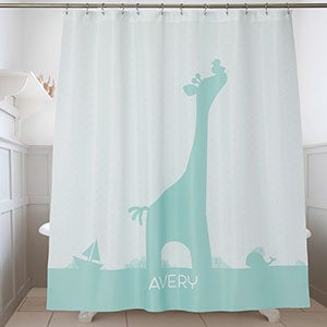 Personalized Shower Curtain - Baby Zoo Animals - 17586