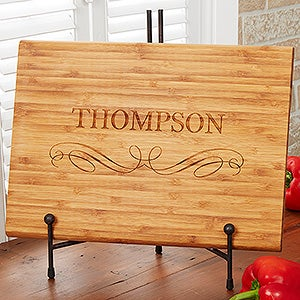 Personalized Bamboo Cutting Board - Classic Kitchen - 17592