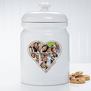 Personalized Photo Cookie Jar - The Heart Of A Family - 17598