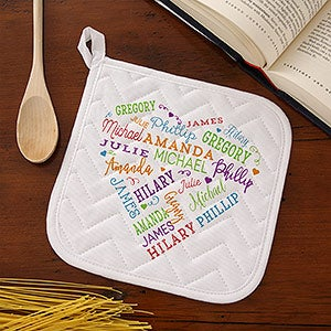 Personalized Apron & Potholder - Close To Her Heart - 17600