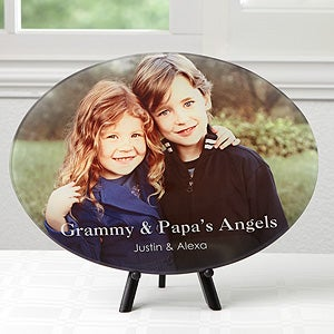 Personalized Photo Message Glass Platter - 17606