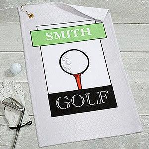 Personalized Golf Towel - Club Classics - 17616