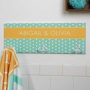 Personalized Towel Racks - Chevron & Polka Dots - 17620