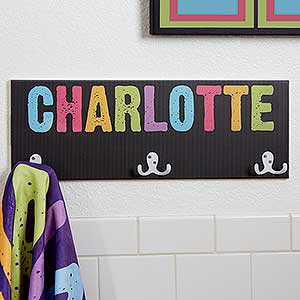 Personalized Towel Rack For Girls - All Mine - 17628
