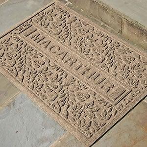 Personalized Fall AquaShield Molded Doormat - Falling Leaves - 17650D