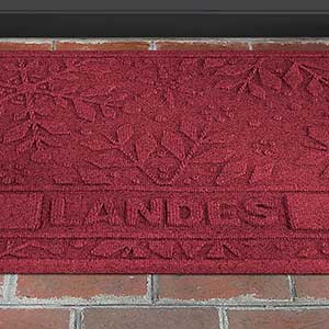 Personalized Winter Aquashield Molded Doormat - Snowflake - 17653D