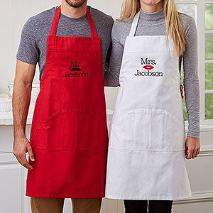 Personalized Aprons - Mr & Mrs Designs - 17656