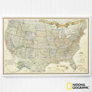Personalized Travel Maps 24x36 - National Geographic Maps - 17657