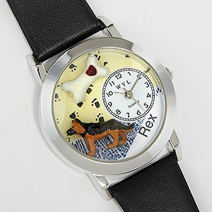 Personalized Dog Lover 3-D Watch - 17658D
