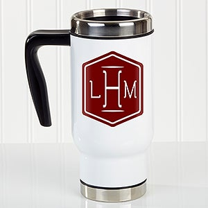 Personalized Commuter Travel Mug - Classic Monogram - 17662