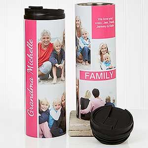Photo Travel Tumbler - Family Love Photo Collage - 17663