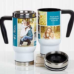 Personalized Travel Mug - Family Photo Collage - 17666