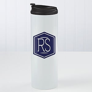 Personalized Classic Monogram Travel Tumbler - 17667
