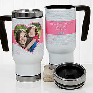 Personalized Photo Travel Mug - Love You This Much - 17673