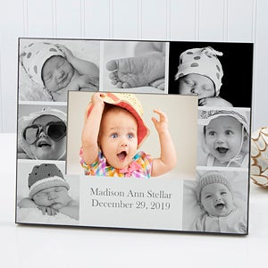 Personalized Baby Picture Frame - Printed Photo Collage - 17678