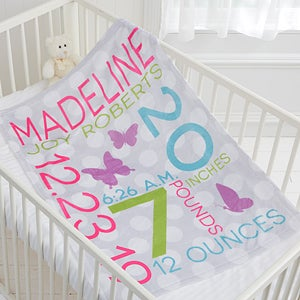 Personalized baby blankets for girls sweet baby baby gifts buy personalized fleece baby blankets for girls add babys name birth date and other details including photos see more personalized baby blankets at negle Choice Image