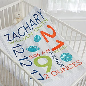 Personalized Fleece Baby Blankets for Boys - 17681