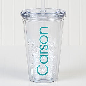 Personalized Classic Name Acrylic Insulated Tumbler - 17682